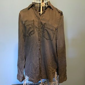 Express Button Up Blouse NWT